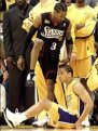 Allen Iverson| Tyronne Lue| 2001 NBA Finals| 76ers vs. Lakers